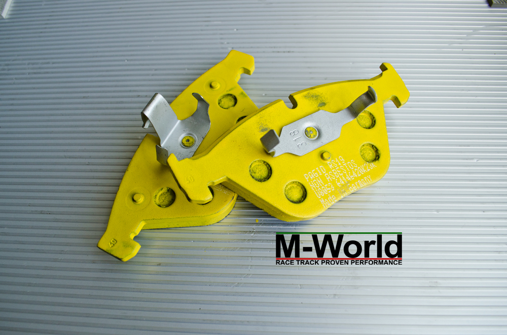 pagid yellow rs19 for bmw e90 e92 m3 front