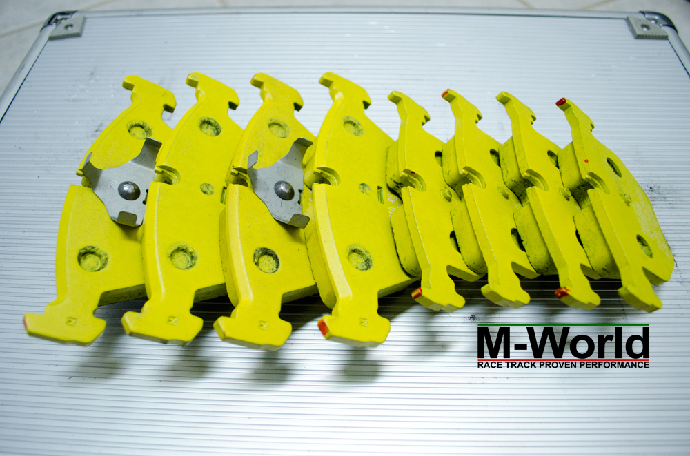 pagid yellow rs19 rs29 for bmw e46 m3 front and rear