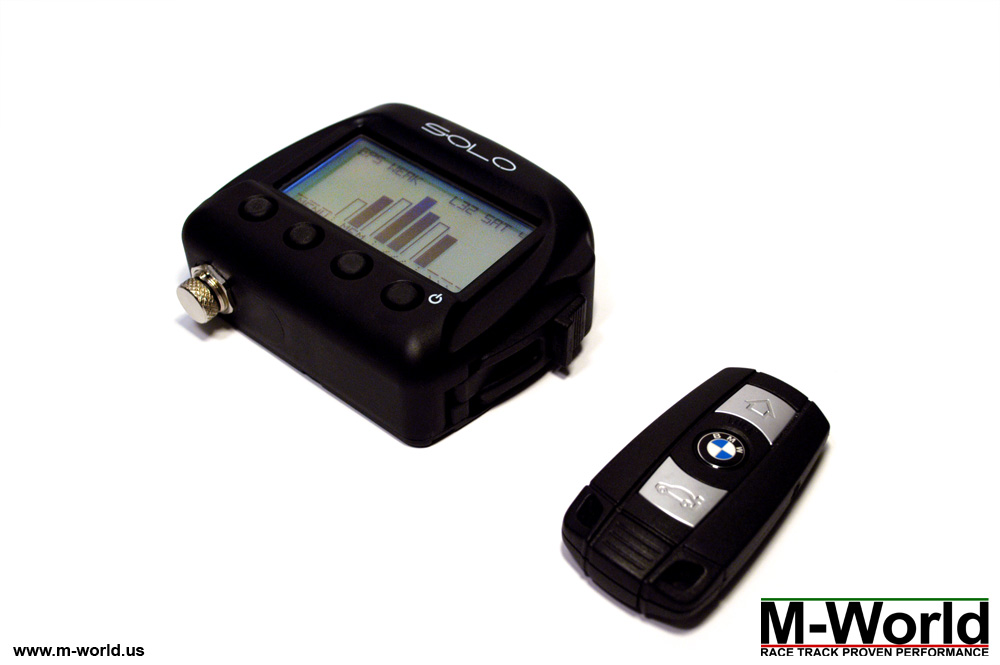 aim solo data logger lap timer front view 2